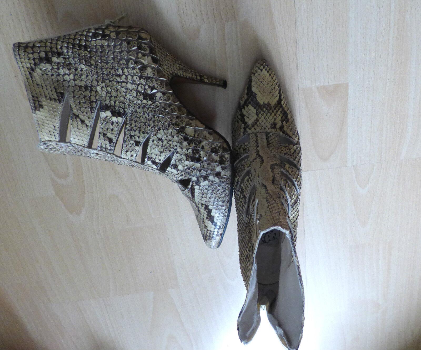 Auffällige Vintage Leder Stiefeletten von LOLA schuhes, Schlange Schlange schuhes, Gr.39 - top c5ff6c