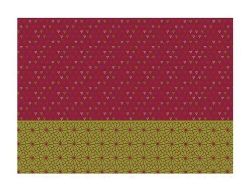 10 hoja decoupage-papel Helsinki rojo-verde 25 x 35 cm vivigade Design papel