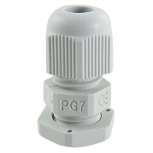 10 pcs 3-6.5mm PG7 Blanc Nylon Imperméable Câble Connect Cord Grip presse-étoupe
