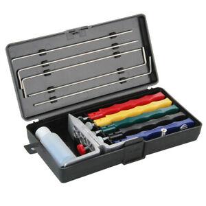 5-Pietra-Professionale-Coltello-Affilatura-Kit-Sistema-Lama-Utensile-Da-Cucina