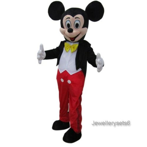 Adult Mickey Mouse Mascot Costume Outfit Cartoon Fancy Dress