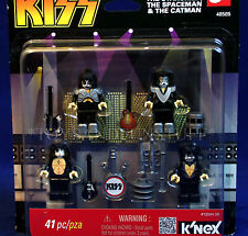 K'NEX KISS Mini-Figures DEMON Starchild SPACEMAN Catman GENE SIMMONS Stage KNEX