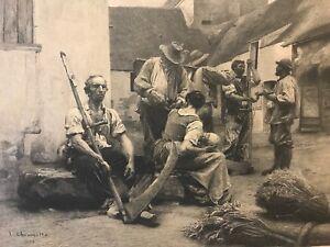 Leon-Augustin-LHERMITTE-1844-1925-graveur-Alfred-Boilot-la-paie-des-Moissonneurs