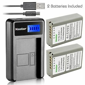 Kastar-Battery-and-LCD-Slim-USB-Charger-for-Olympus-BLN-1-OM-D-E-M1-M5-PEN-E-P5