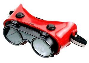 Schweißerbrille - Arbeitsschutzbrille - Kunststoff - Rot - Connex 938750