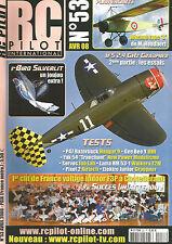 "RC PILOT N°53 PLAN : MORANE TYPE ""L"" / IFS 2.4 Ghz GRAUPNER / P47 RAZORBACK"