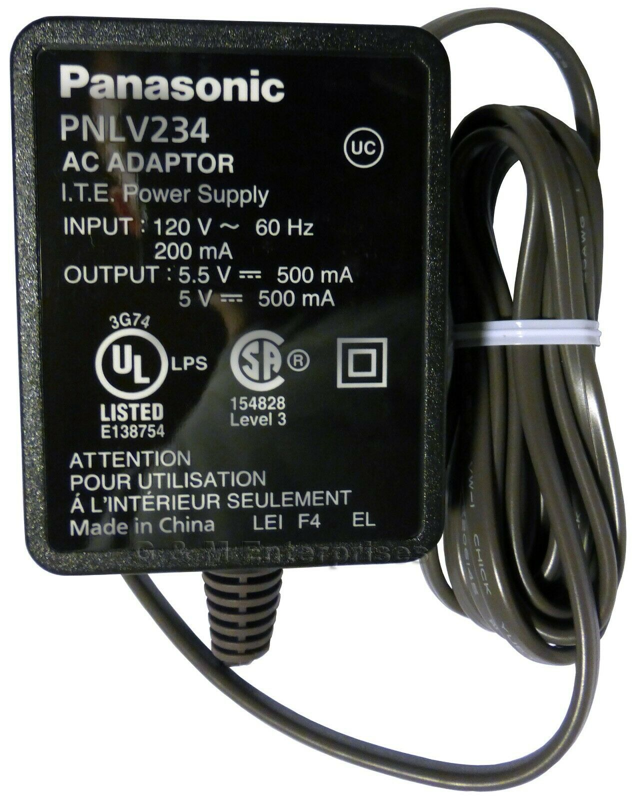 AC Power Supply Adapter Cord Compatible with Panasonic BL-VT164 E BL-VT164W P Network Camera 5/ Feet,/ with/ LED/ Indicator