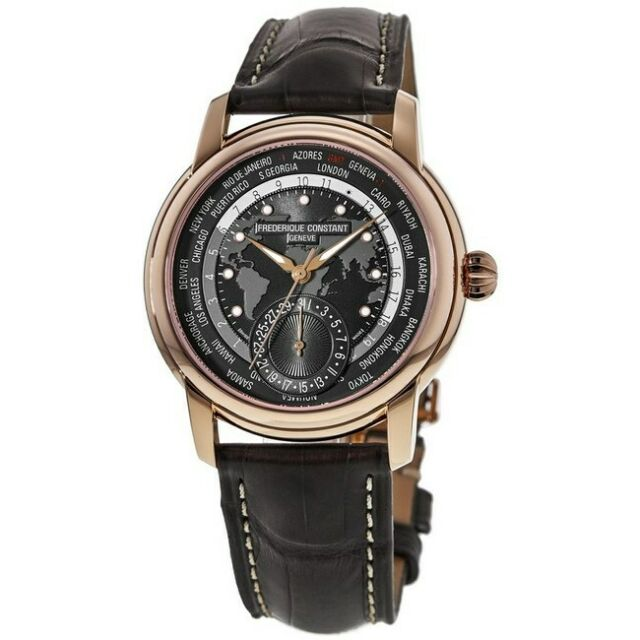 New Frederique Constant Classic Worldtimer Grey Dial Men's Watch FC-718DGWM4H4