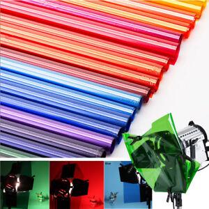 Details About Color Gel Lighting Filter Paper For Photo Camera Studio Sheets 40x50cm 16x20