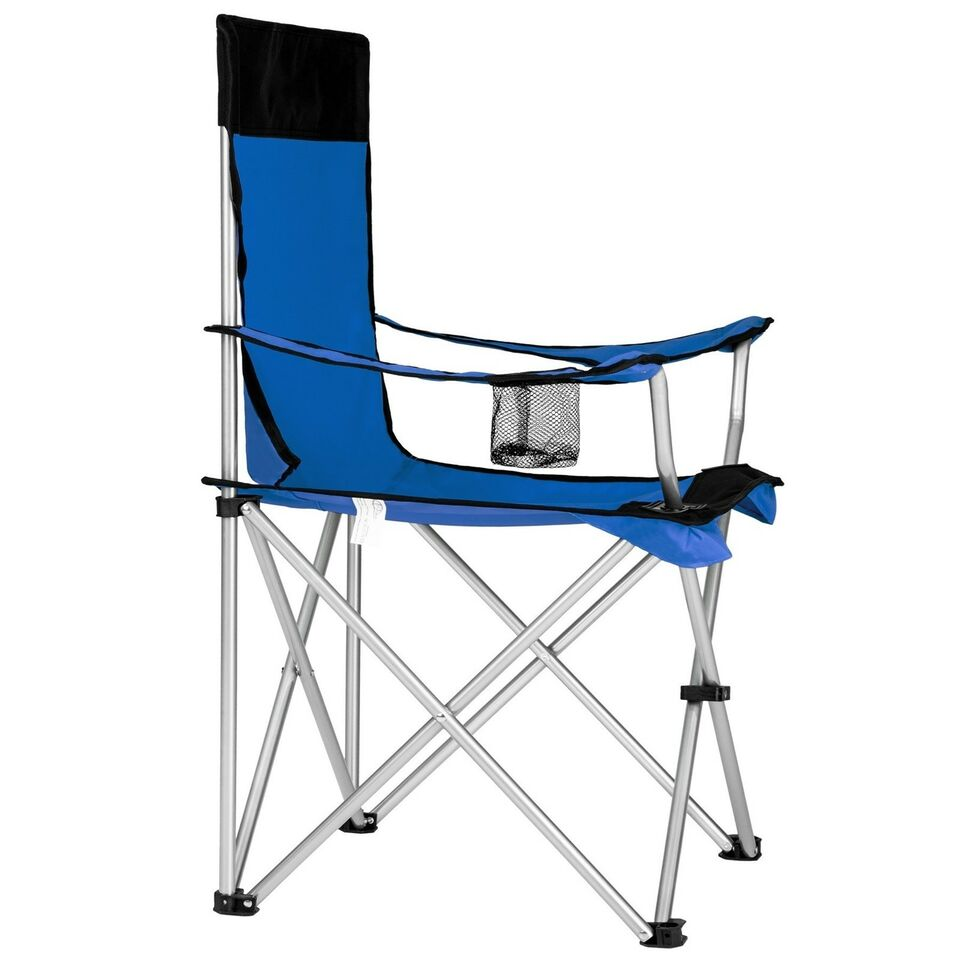 6 Campingstole enkelt blå