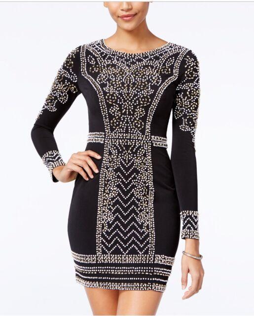 ce4345fee Speechless Juniors Embellished Bodycon Dress Retail$119 Sz 1 E&D Resale