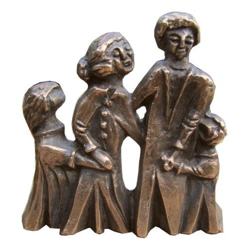 Bronze plastique famille 8 CM bronze sculpture Family