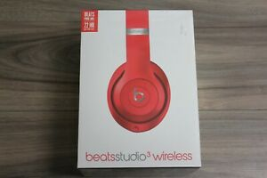 Original Beats Studio 3 Wireless Over Ear Headphones Red Ebay
