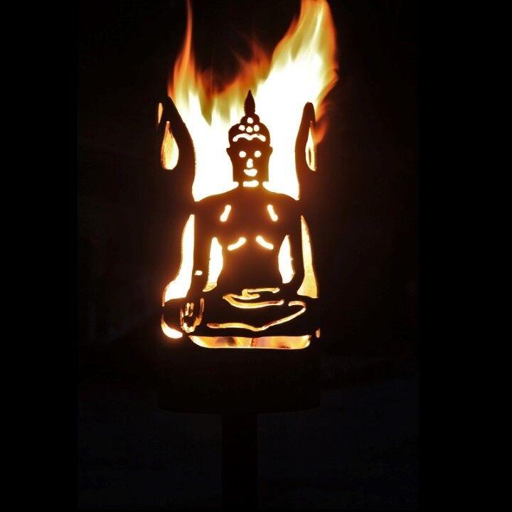 TORCIA da Giardino Buddha Set Incl. variabili manico e 2 cera ruoli con bioanzünder