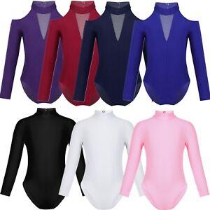 Toddler-Girls-Ballet-Dance-Dress-Child-Leotard-Long-Sleeve-Gymnastics-Dancewear