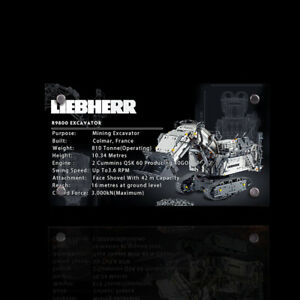 Display-plaque-for-Lego-Liebherr-R-9800-Excavator-42100-AUS-Top-Rated-Seller
