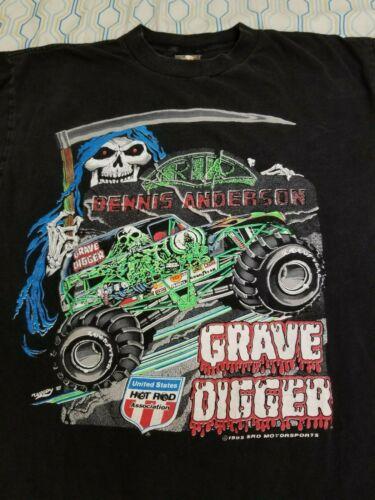Vintage 90s Monster Jam Grave Digger Dennis Anders
