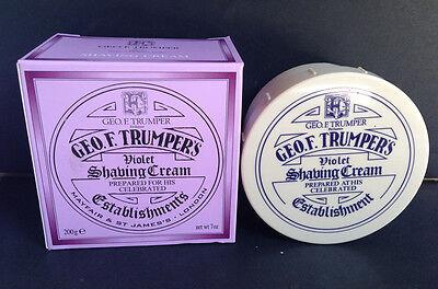 Cooperative Geo Trumper Violet Shaving Cream 200 G Screw Thread Pot Crema Barba Violetta Depilazione E Rasatura