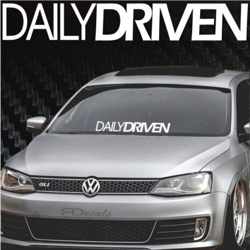 """Sticker 4x24/"""" Tuner Funny Boost Euro Daily Driven S//B Windshield Banner Decal"""