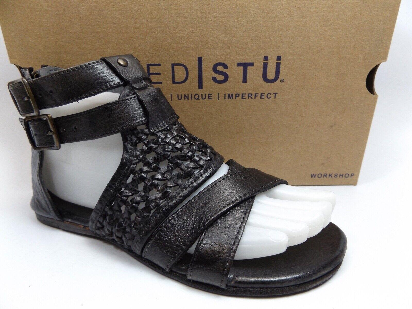 Cama STU capriana con Tiras Gladiador Mujer Sandalia Negro Dip Dye M NUEVO  39