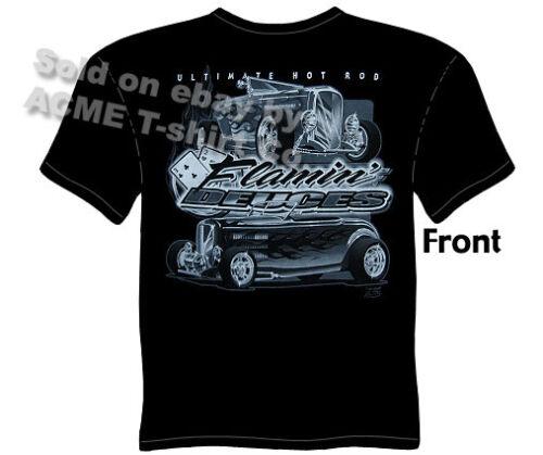Hot Rod T Shirts 32 Ford Shirt Automotive Shirts 1932 Roadster Flamin/' Deuces