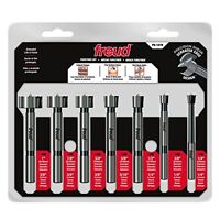 7 Pcs. Precision Shear Precision Shear Serrated Edge Forstner Drill Bit Set 1/4 on sale