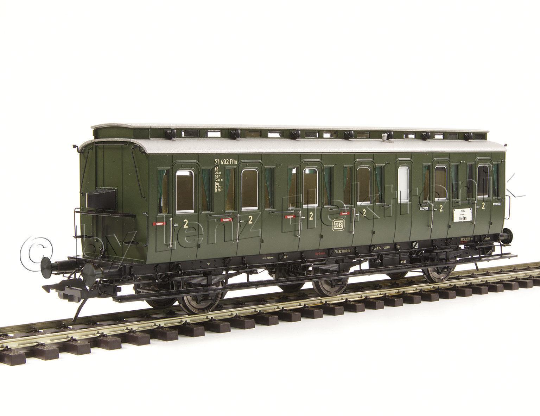 Lenz 41166-01 preßischer compartimento carrello c3 2 KL.   FFM 71384 DB EP. III traccia 0 NUOVO
