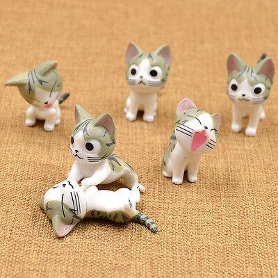 6pcs Cheese Cat Ornaments Chi's Sweet Home Cute Mini Decor Gift Kawaii Plastic