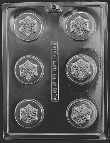 Oreo Type Frozen Snowflake Cookie Mould 6 formes on 1 Mould Christmas Snowflake
