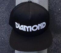 Diamond Supply Co. Caroline Rubber Logo Mens Snapback Hat One Size Fit