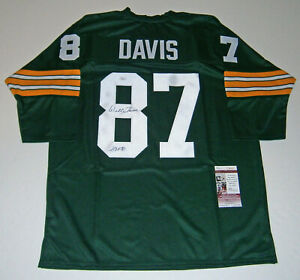 PACKERS-Willie-Davis-signed-custom-green-jersey-w-HOF-81-JSA-COA-AUTO-Autograph