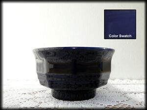 Finger-Cereal-Bowl-039-Color-Medley-039-Pfaltzgraff-Glossy-Cobalt-Blue-10-Sided-Footed