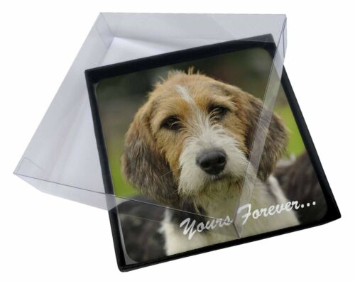 "4x Welsh Fox Terrier Dog ""Yours Forever"" Picture Table Coasters Set, ADFT4yC"