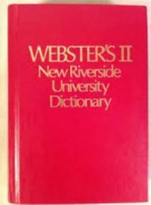 Webster's II New Riverside University Dictionary, , 039533957X, Book, Good