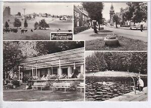 Ansichtskarte Frauenwald - Schwimmbad Lenkgrund/Blick vom Platz des Friedens s/w