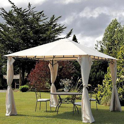 Gazebo 3x2 per giardino rettangolare struttura in ferro e camino antivento