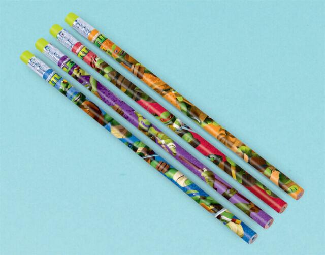 TMNT Party Supplies Pencils 12 Pack Boy Loot Favour Teenage Mutant Ninja Turtles
