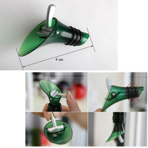 White Red Wine Aerator Plug Cap Bottle Pour Pourer Shutoff Silicone Seal Stopper