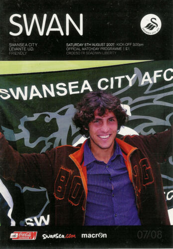 Swansea City v Levante U.D. Friendly 5 Aug 2007 FOOTBALL PROGRAMME