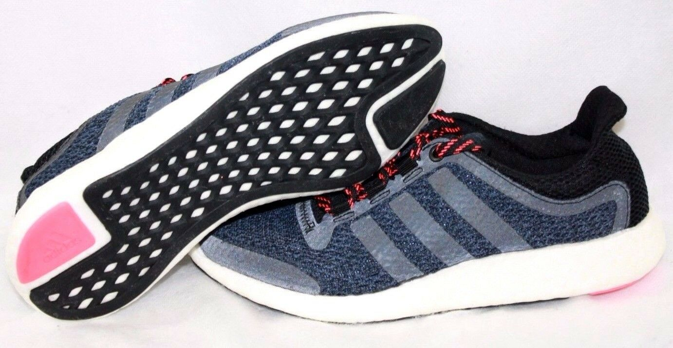 NEW Womens ADIDAS Pureboost Chill S79266 Navy Blue Black Running Sneakers Shoes