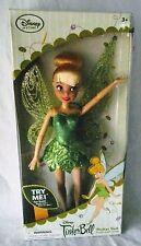 "Tinker Bell Flutter Doll Disney Store Glitter Wings 10"" Toy Peter Pan NIB"