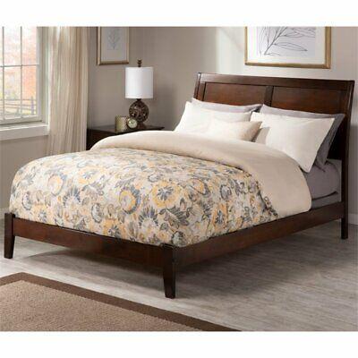 Atlantic Furniture Portland Queen, Walnut Sleigh Bed Queen