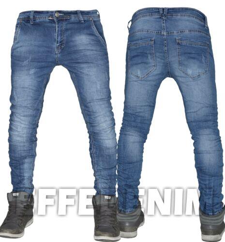 Jeans Uomo Denim Pantaloni Slim Elasticizzati Tasca America Chiaro Nuovo 601