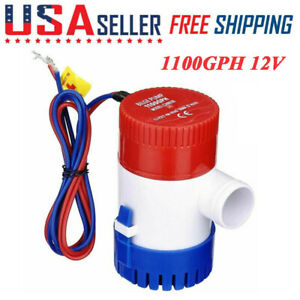 1100 GPH 12V Marine Boat Bilge Electric Water Pump Submersible Yacht RV SPA Pool