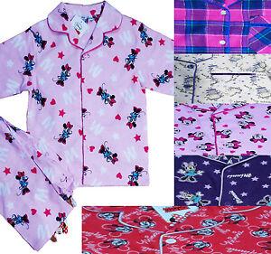 cc38b33152ed AGE 1-8 YEARS Disney Girls Kids Flannel Pyjamas Minnie Mouse Brushed ...