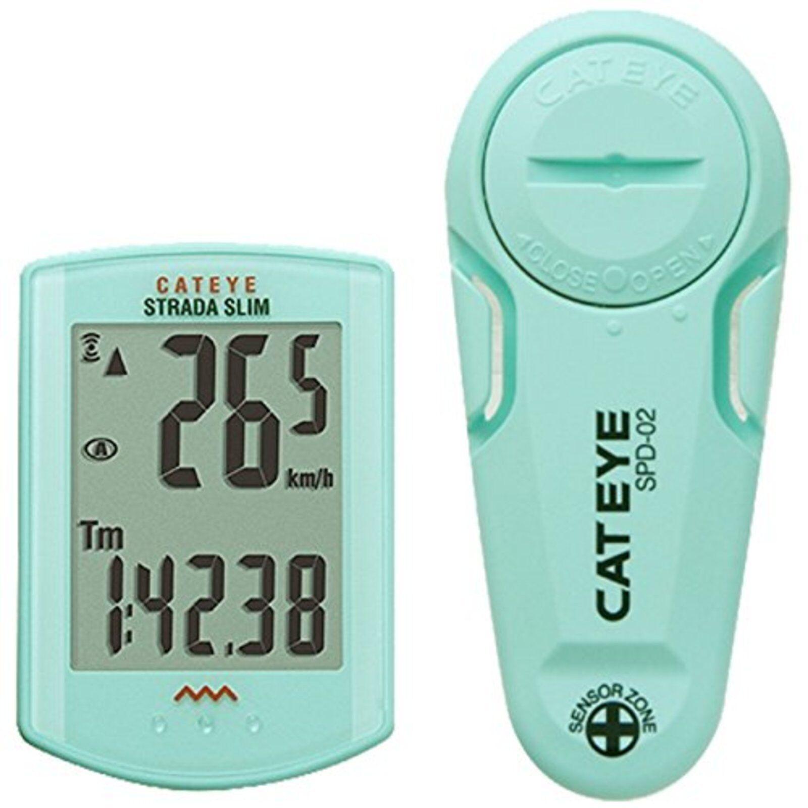Strada Fin sans Fil Bicyclette Ordinateur Yeux de Chat CC-RD310W Vert Clair F S