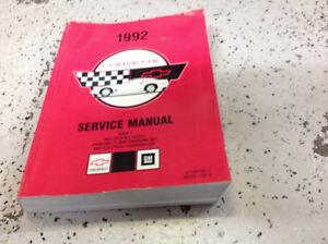 Chevrolet-1992-Chevy-Corvette-servicio-de-reparacion-Taller-Manual-del-taller-volumen-1-solo