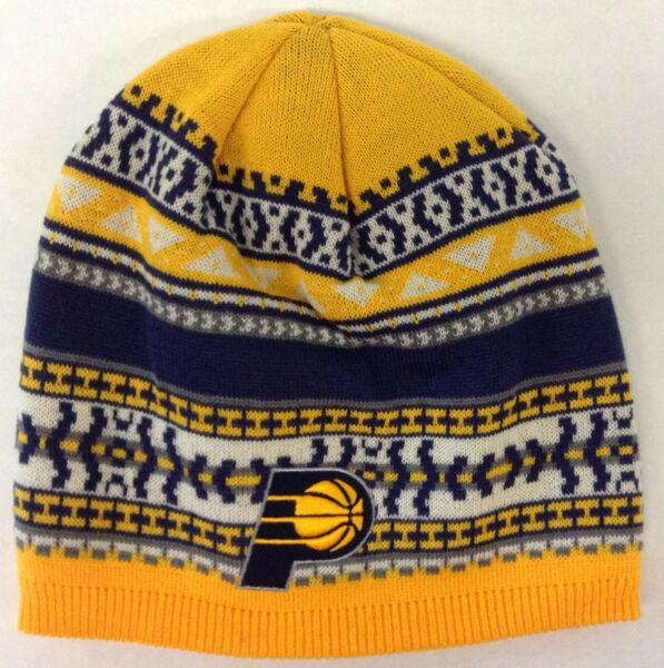 6b7373da8e0 NBA Indiana Pacers Adidas Cuffless Winter Knit Hat Cap Beanie Style  KU91Z  NEW!