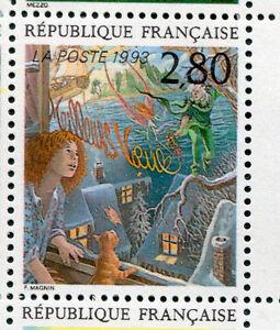 FRANCE, 1993, timbre 2845, MEILLEURS VOEUX, MAGNIN, BD, PLAISIR ECRIRE neuf**