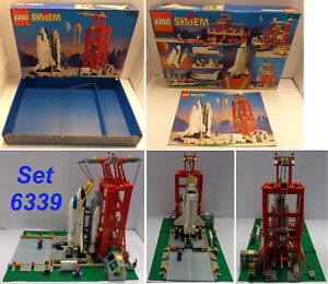 Game-LEGO-1995-SYSTEM-Town-Completo-Set-6339-1-Launch-Command-Shuttle-Launch-Pad